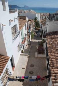 Utsikt mot turist og badebyen Calpe