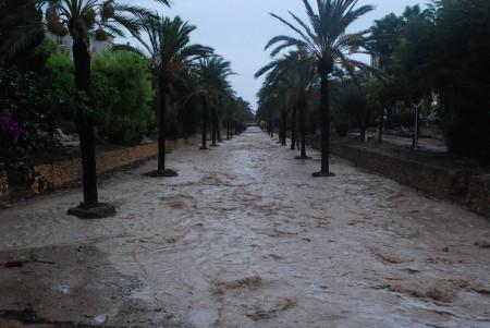 Dei er førebudd på MYKJE vatn her i Albir. Denne alleen er tørr meste av tia.