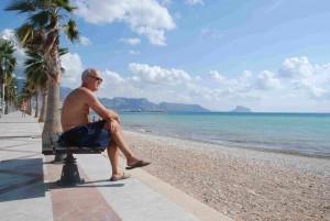 Frå daglegturen til stranda. Men nokre gonger til Altea, som gårsdagen.