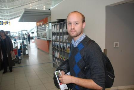 Det var stor overrasking å møta Odin på flyplassen!