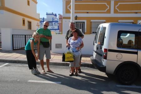 Kjekkt å besøke Einar og Ingunn i San Juan de les Terreros
