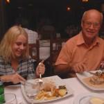 Koselig kveld men litt kjedelig mat på restauranten i Alfaz