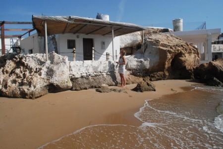 Mange orginale sumarhus på stranda i San Juan del Terreros!