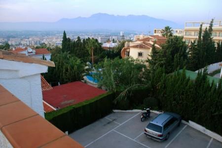 Og dette er utsikten mot øst, Albir og Altea i bakgrunnen.