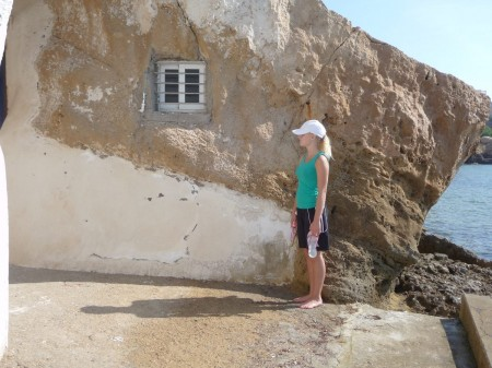 Fin detaj frå hus i strandkanten