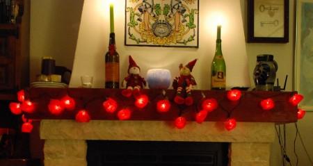 Nå har me og pynta til jul, men me kjem jo heim til den 19.12.