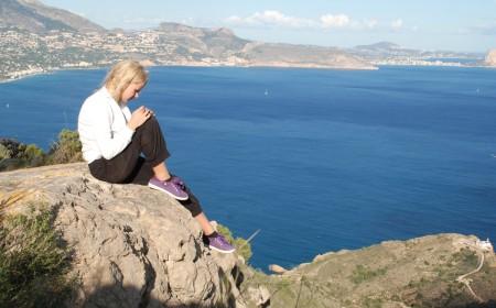 Utsikten var fantastisk i går. Mot Calpe og Denia.