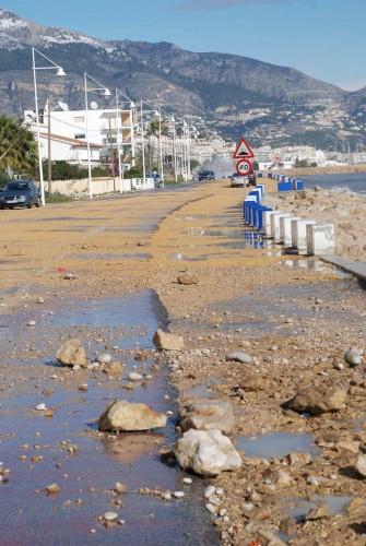 Vegen mellom Albir og Altea i dag.